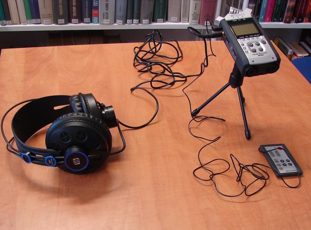Rejestrator dźwięku.   fot. G. Strawa